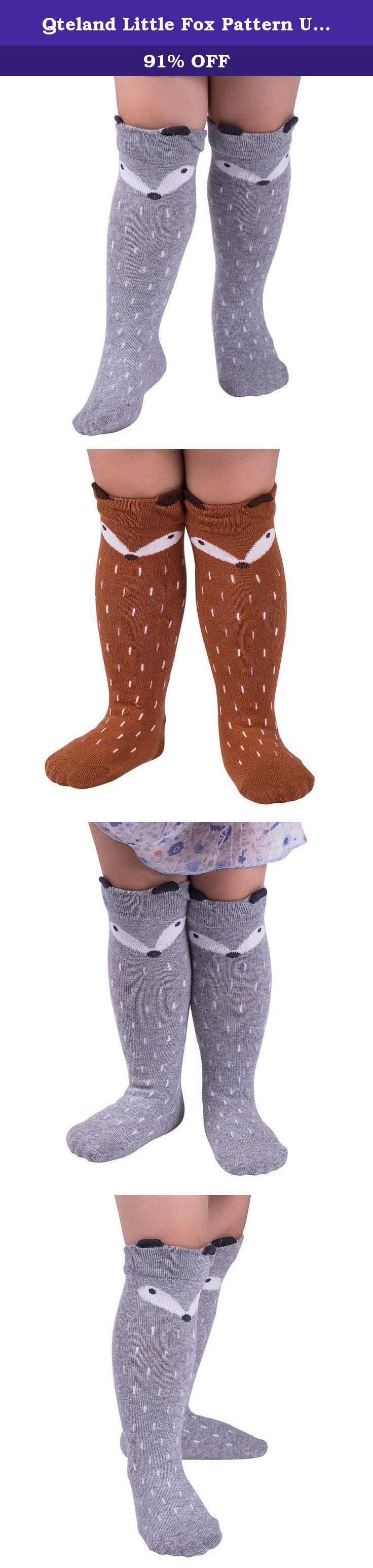 Qteland Little Fox Pattern Uni baby Knee High Socks Tube socks