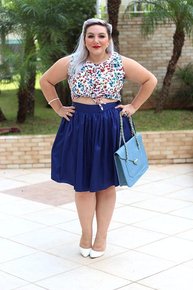 6dcbd2c621d9b3 Vestido retrô plus size ou saia e top cropped? | juromano | Vestido ...