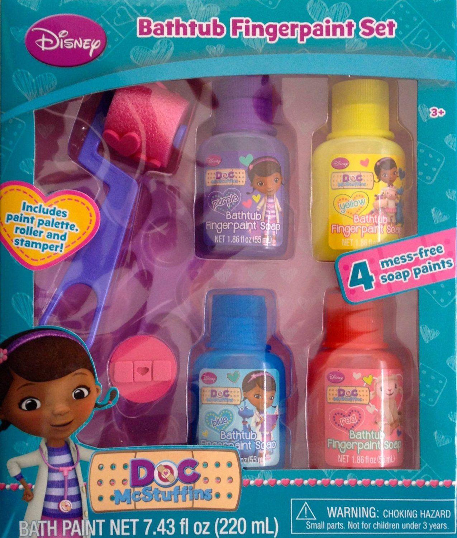 Amazon Doc Mcstuffins Bathtub Fingerpaint Set Toys