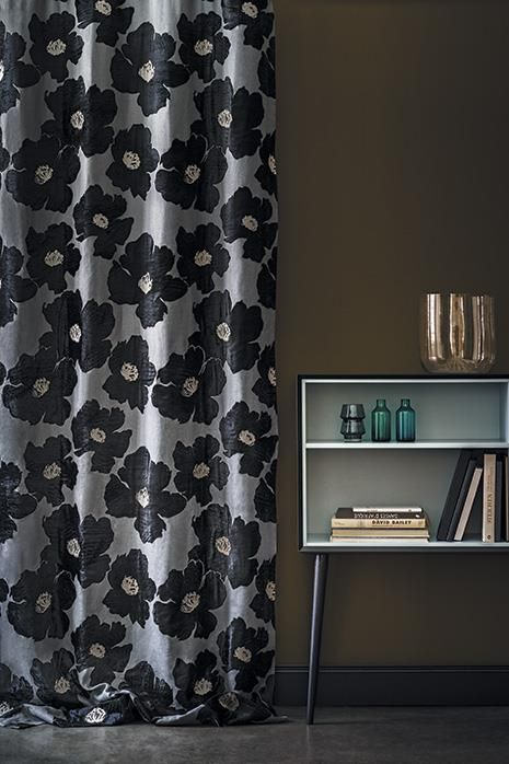 Casamance's Choji Marine, a gorgeous yet restrained floral on 100% linen with appliqué and viscose embroidery. Love it.