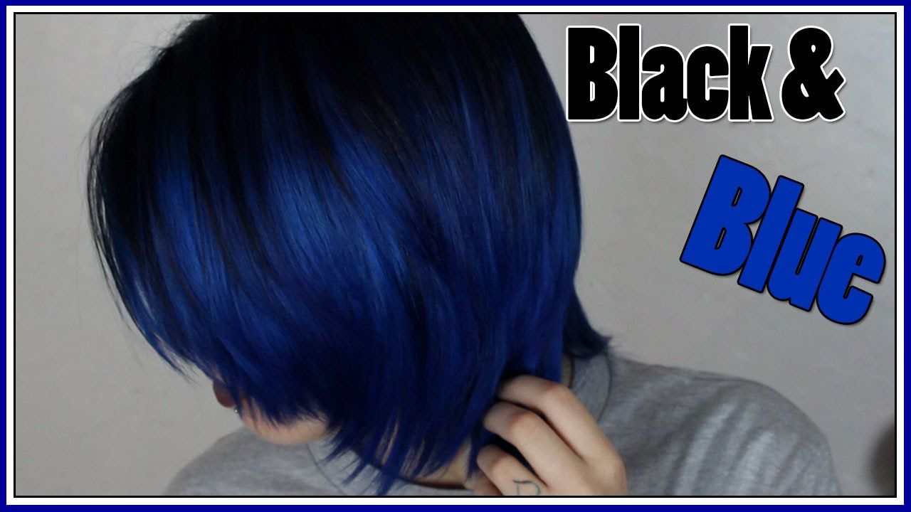 Dying My Hair Black And Blue Arctic Fox Hair Color Youtube