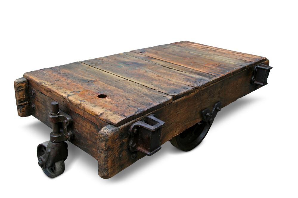 Pleasing Vintage Factory Cart Coffee Table Future Home Ideas Cart Inzonedesignstudio Interior Chair Design Inzonedesignstudiocom