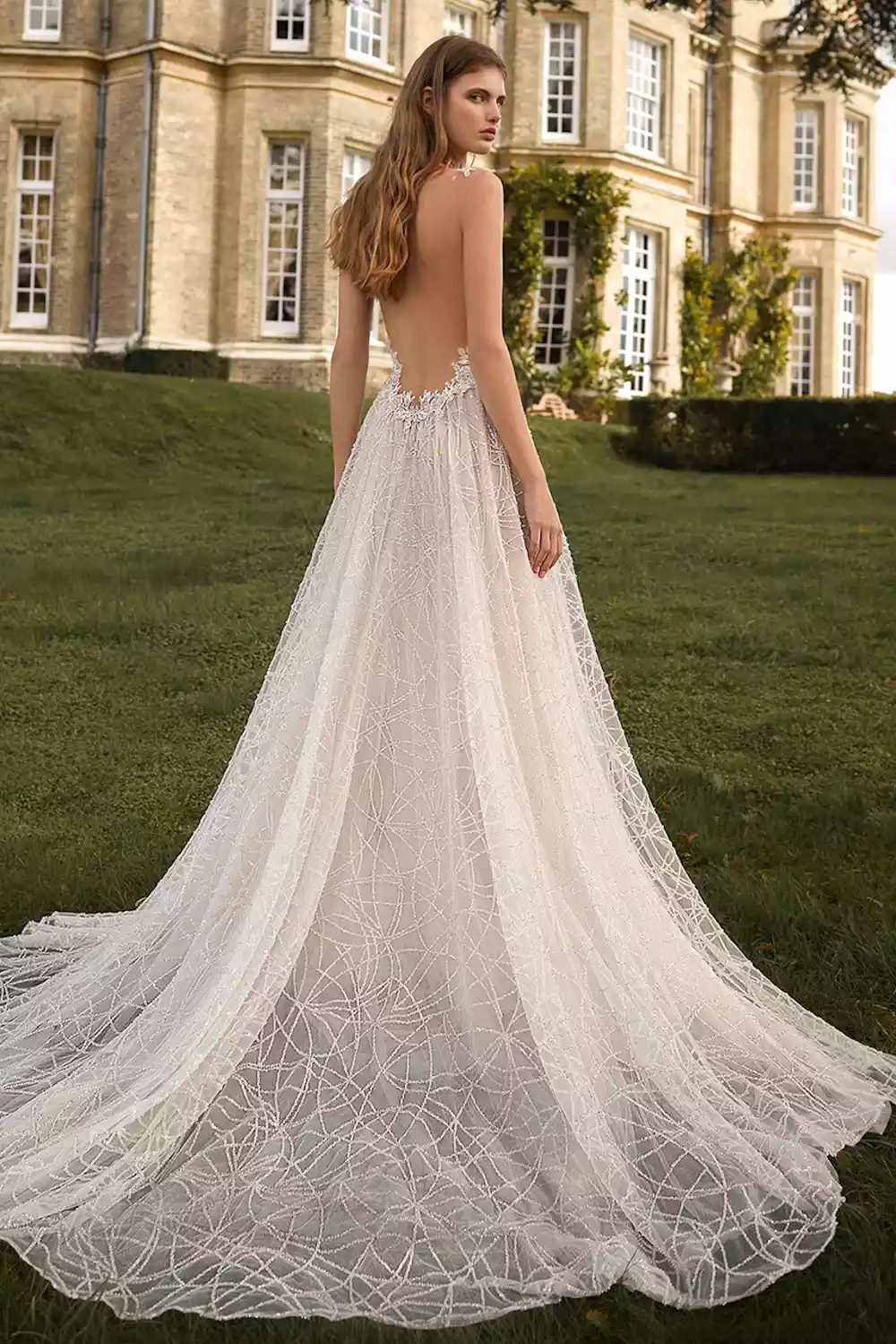 24 Alluring Backless Wedding Dresses For The Bold Inclined In 2021 Backless Wedding Dress Wedding Dresses Backless Wedding [ 1499 x 1000 Pixel ]