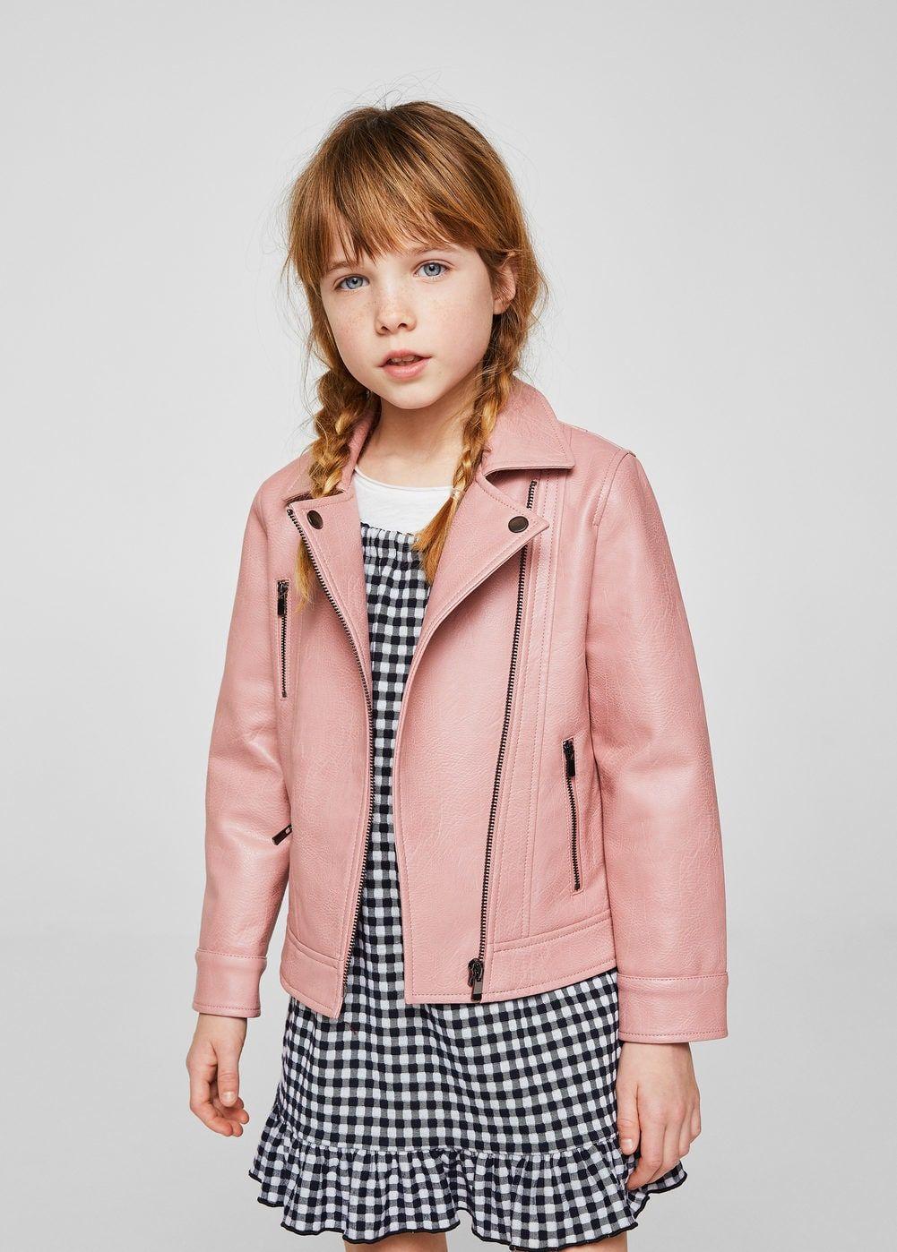 Zipped Biker Jacket Girls Mango Kids Usa Little Girl Outfits Girls Jacket Girl Outfits [ 1398 x 1001 Pixel ]