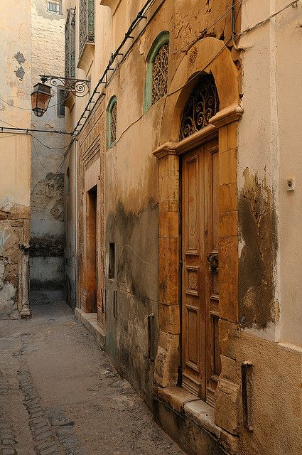 Doorways in the medina, Sfax, Tunisia.  I took mint and pine but tea there many times!