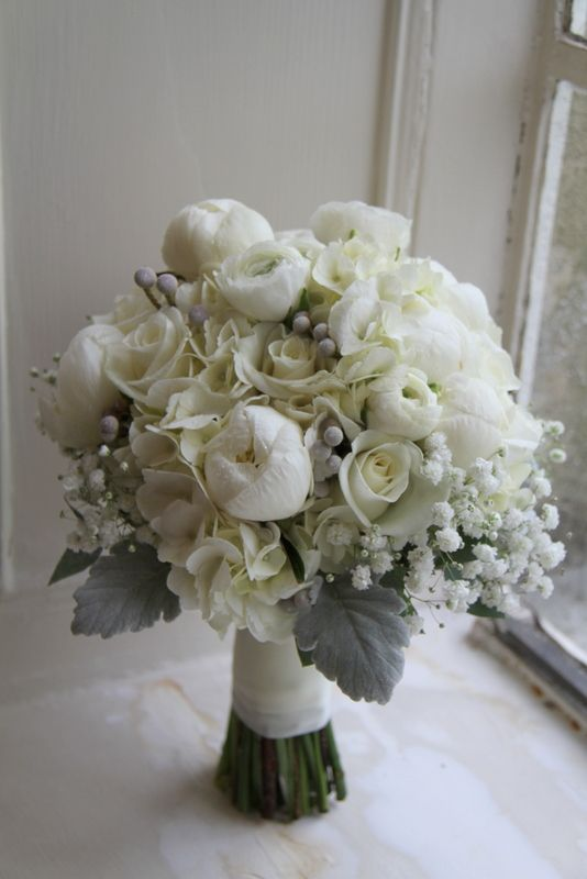 flower design events lizzie richard s fabulous frosty silver platinum pewter christmas wedding day at eaves hall