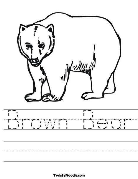 Bear Worksheet - editable | Little Homeschool on the Prairie | Pinterest