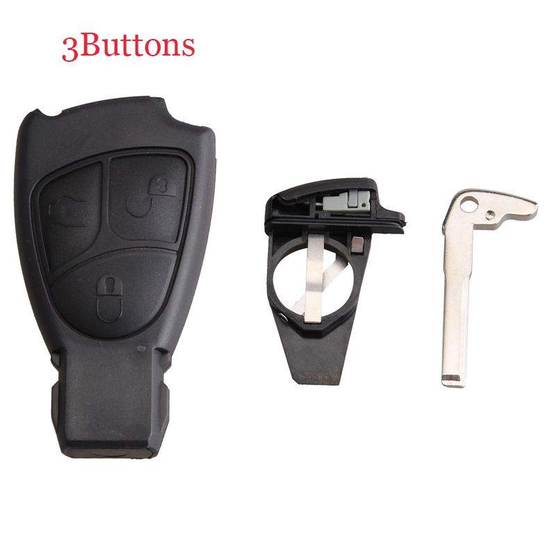 For benz smart key fob remote shell 3 buttons key battery