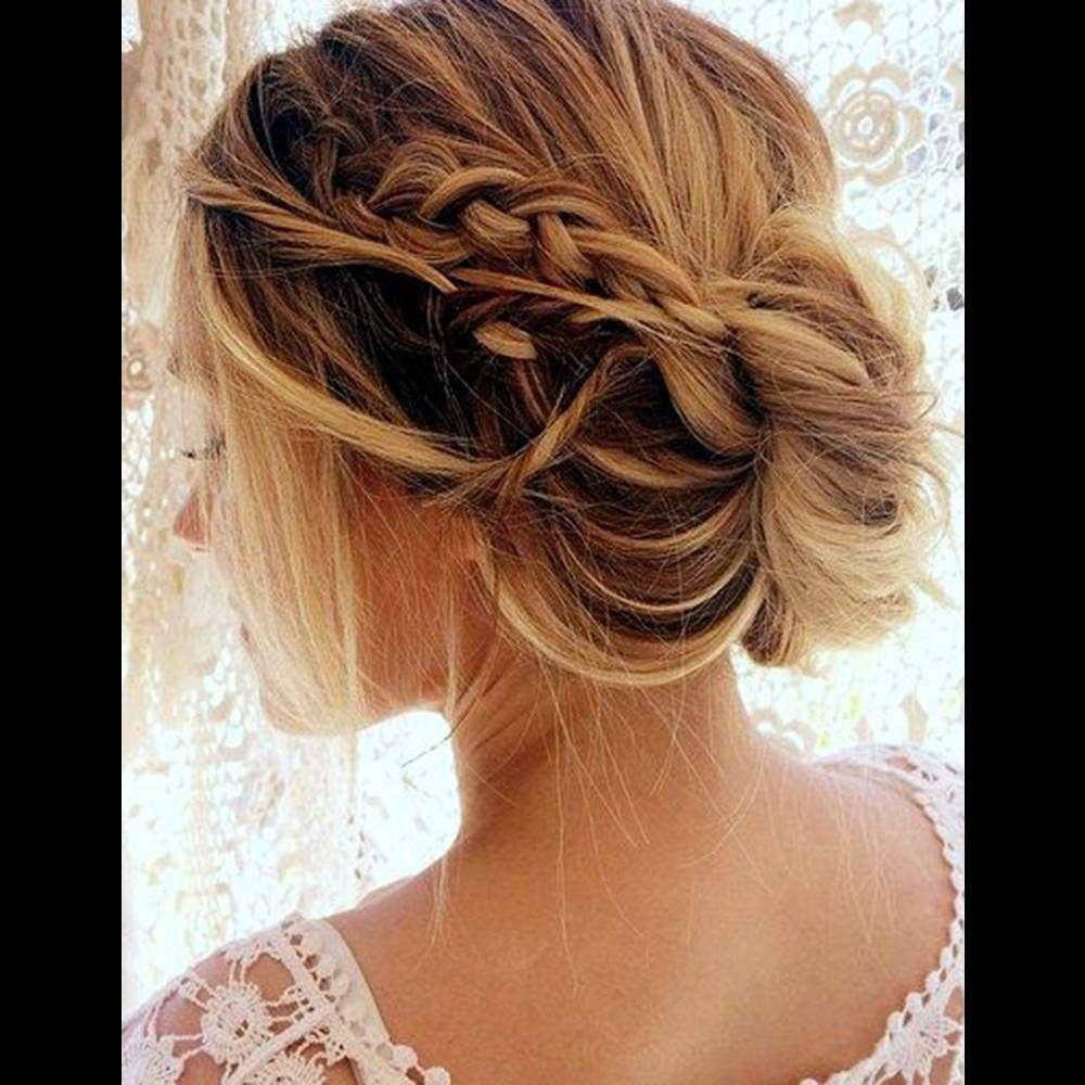 30+ Coiffure mariage tresse cheveux mi long inspiration