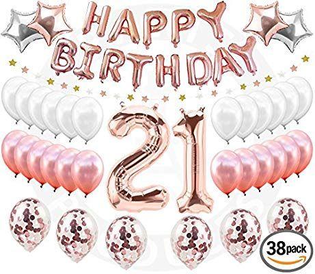 Amazon 21st Birthday Decorations 38 Pieces