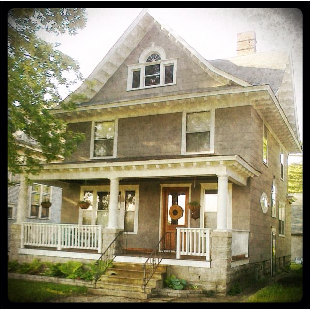 American Foursquare House Home Pinterest House