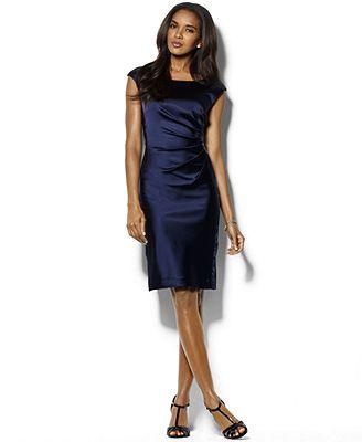 99f3774a900aea Lauren Ralph Lauren Cap-Sleeve Satin Sheath Dress (waiting for Macy's to  put it on sale!)