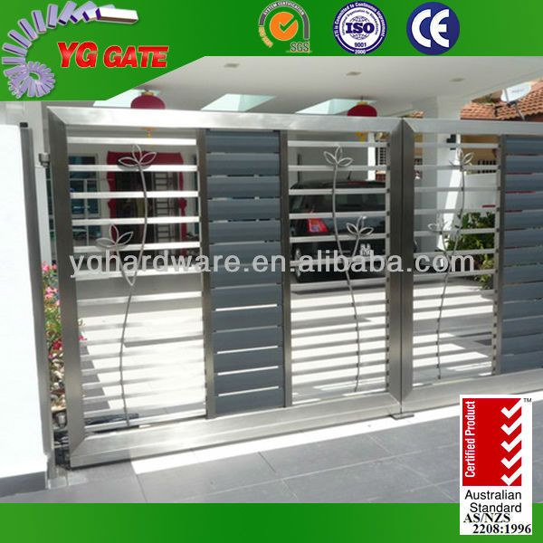 Stainless Steel Modern House Gate Designs: Modern Stainless Steel Main Gate Design $1~$8000