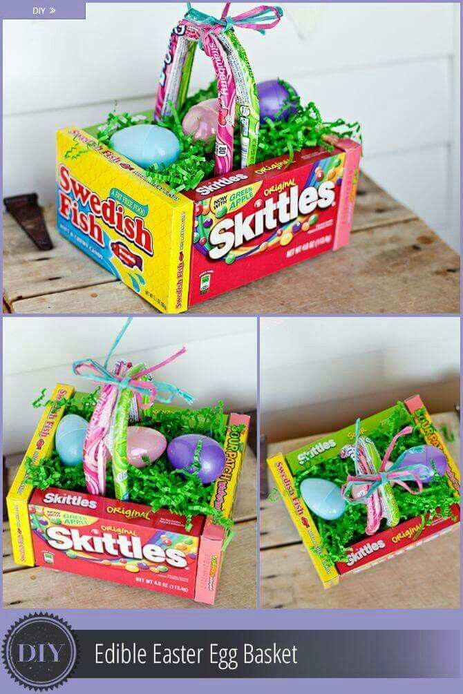 Edible easter basket easter pinterest easter baskets easter these easter basket ideas will bring joy to any kid whos excited for the easter egg hunt make these easter basket ideas your next project with your kids negle Choice Image