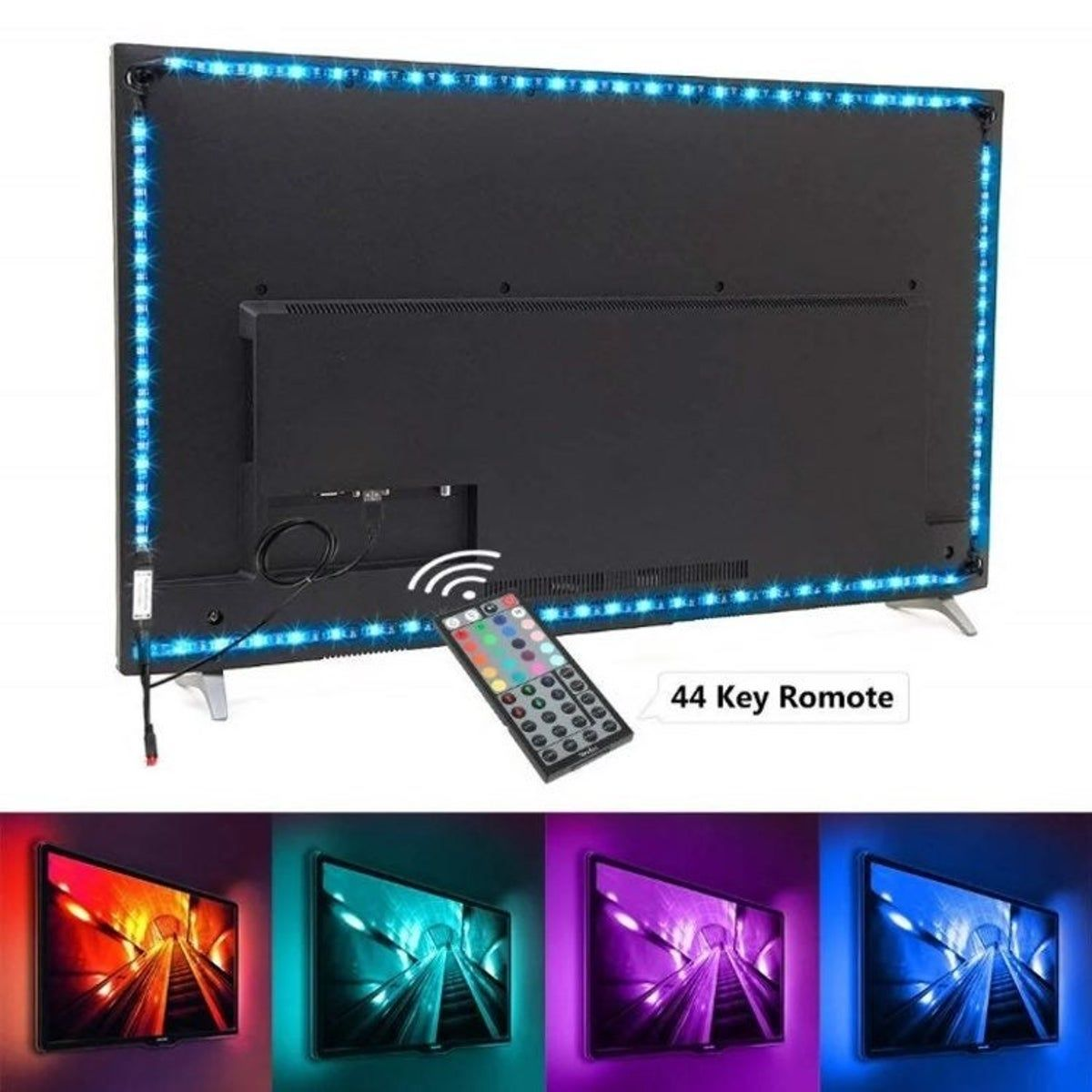 Tv Backlight LED 9.8 ft multicolor light in 2020 Tv