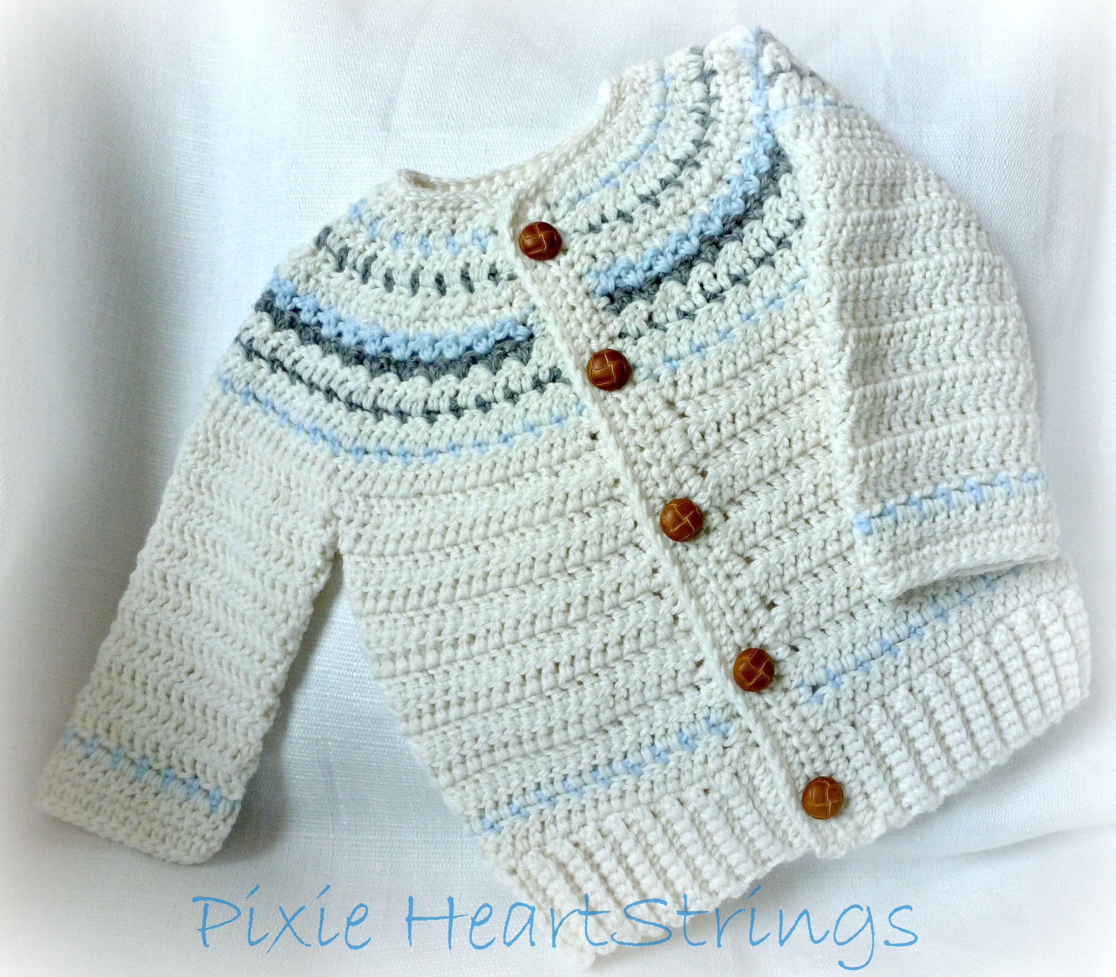 Baby Boy Fair Isle Inspired Sweater...   crochet   Pinterest   Ropa ...
