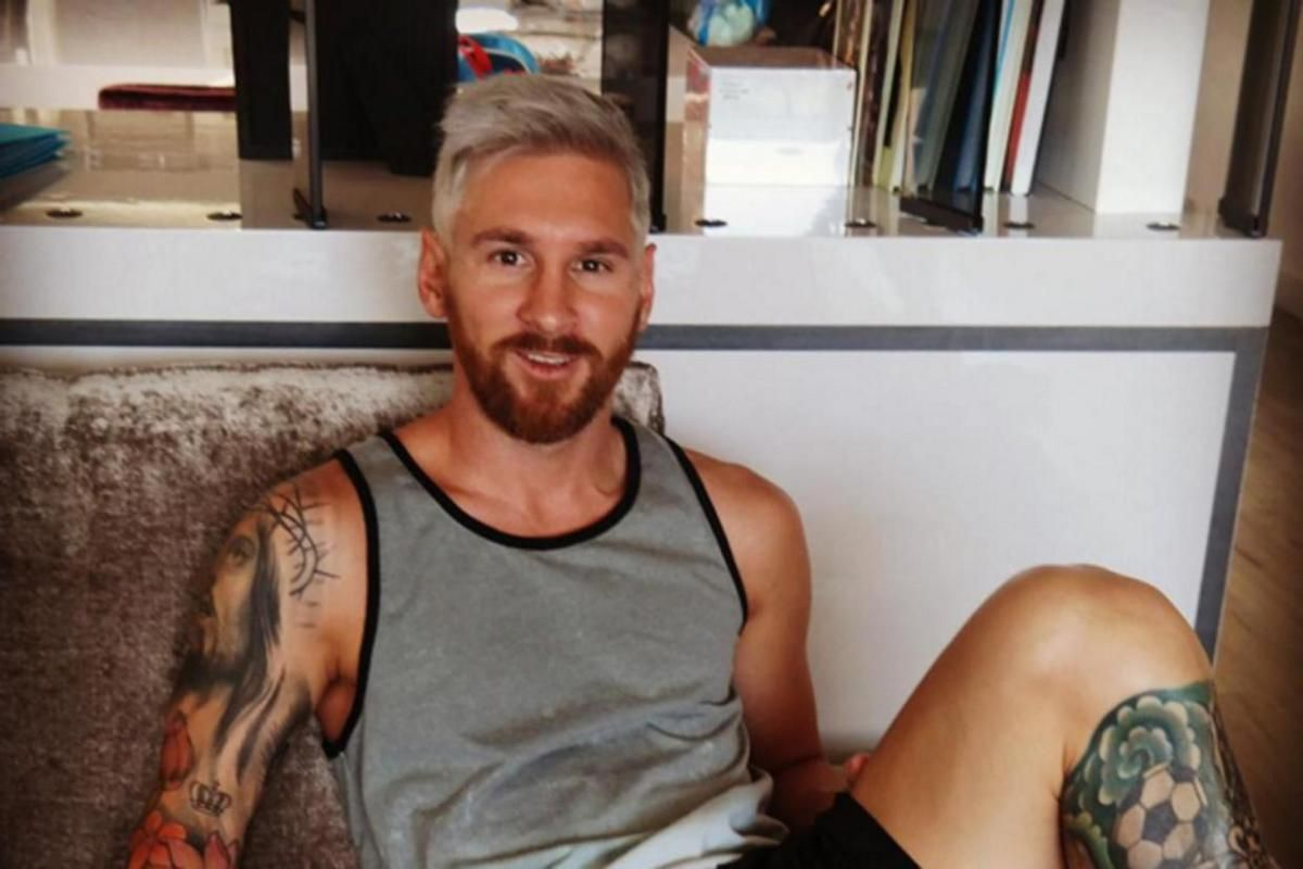 Latest Lionel Messi Blonde Hair Looks Hd Image Blonde Hair