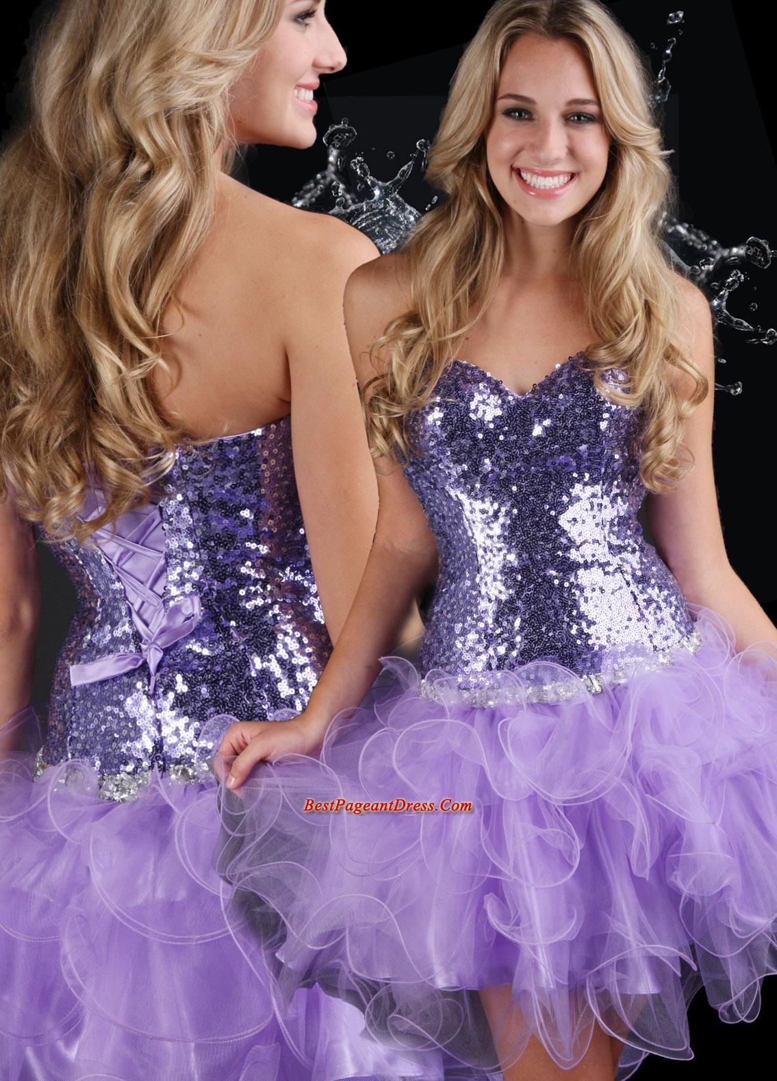 Sparkle pageant dresses sweet short sweetheart neck minilength