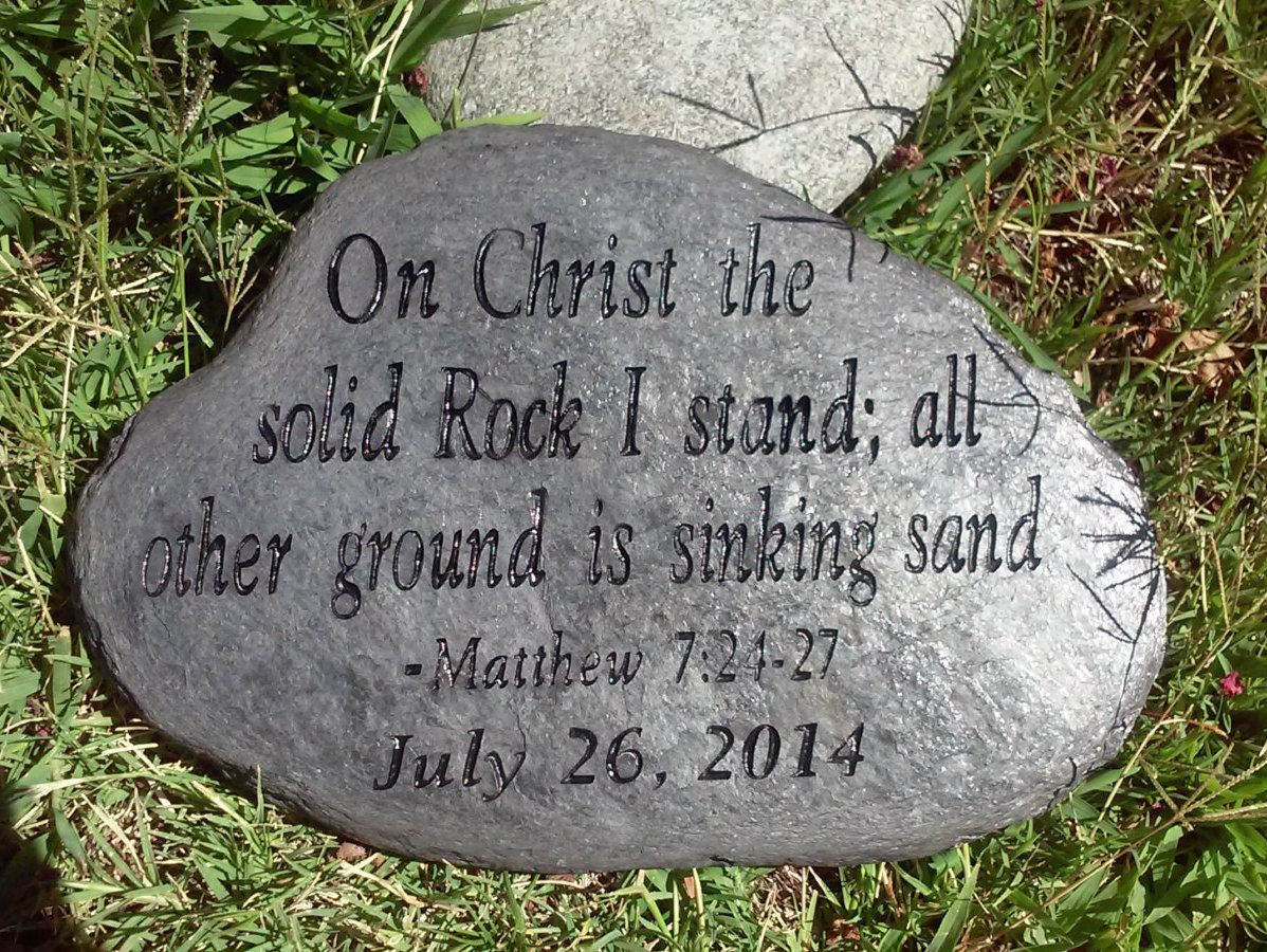 Engraved Scripture Stones Personalized Garden Stone Psalms Family Stone Address Stones Engraved