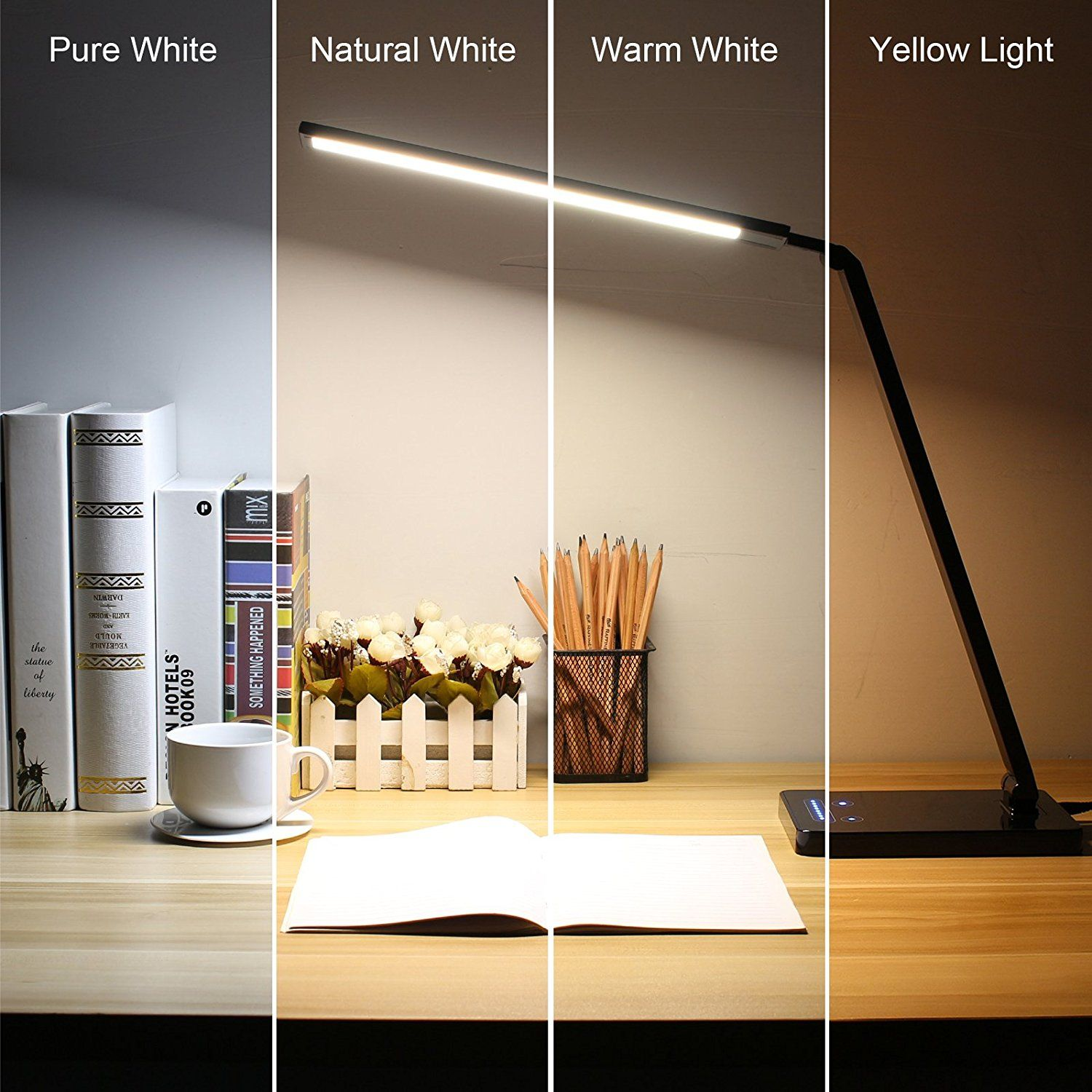 Byb metallic dimmable led desk lamp eye caring table lamp slim byb metallic dimmable led desk lamp eye caring table lamp slim aluminum arm geotapseo Choice Image