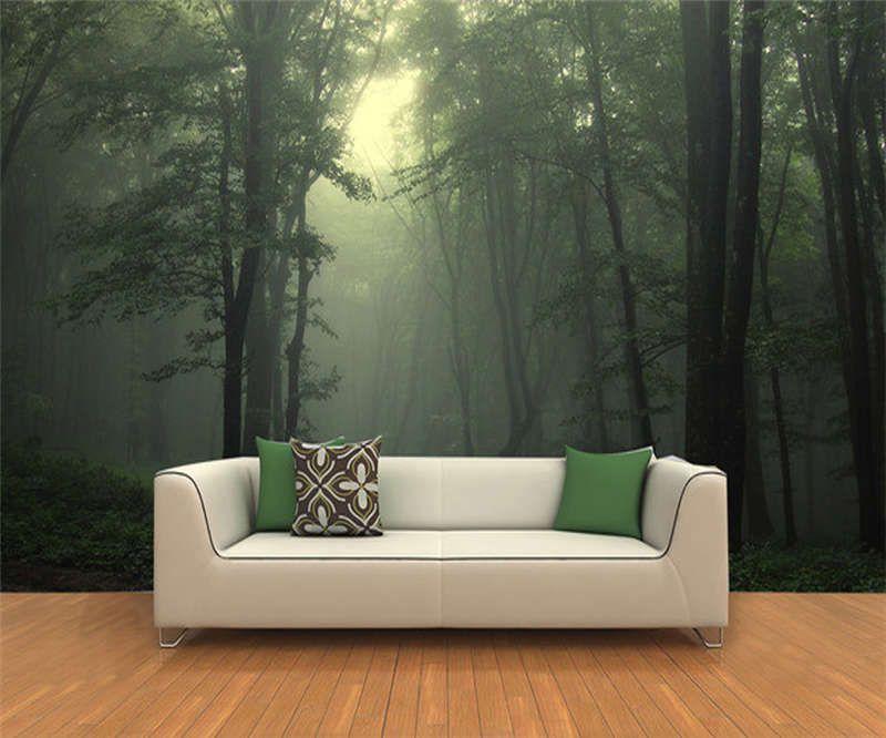 Slightly Dark Forest 3D Full Wall Mural
