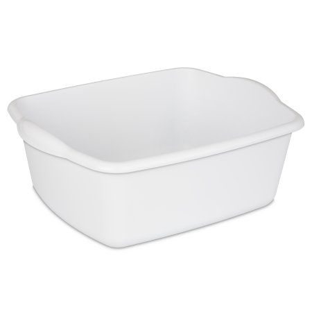 Sterilite 12 Quart Dishpan White Set Of Walmart Com Room Essentials Sterilite Dish Pan