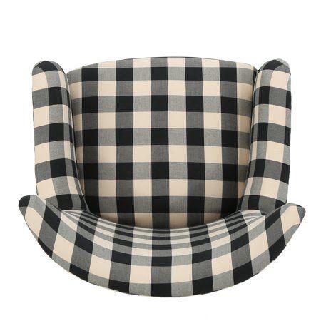 Best Home Club Chairs Plaid Fabric Plaid Chair 400 x 300