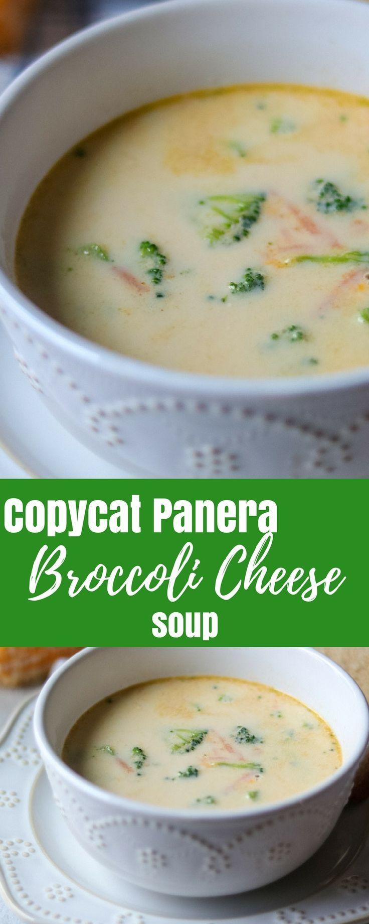 Copycat Panera Broccoli Cheddar Soup | Recipe | Healthy broccoli ...