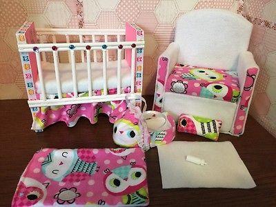 Barbie Baby Nursery Set Furniture Crib U0026 Sofa U0026 Carrier. Owl