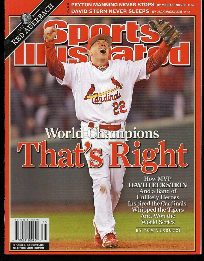Sports Illustrated 2006 St. Louis Cardinals David Eckstein