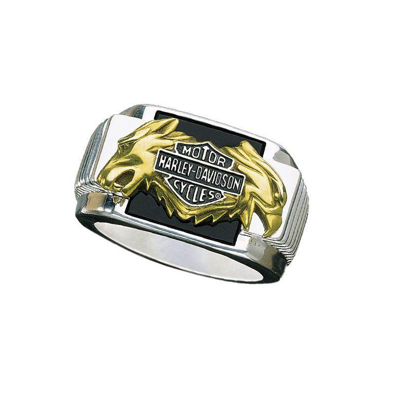 HarleyDavidson Mens Silver Bold Spirit Ring NEW Harley