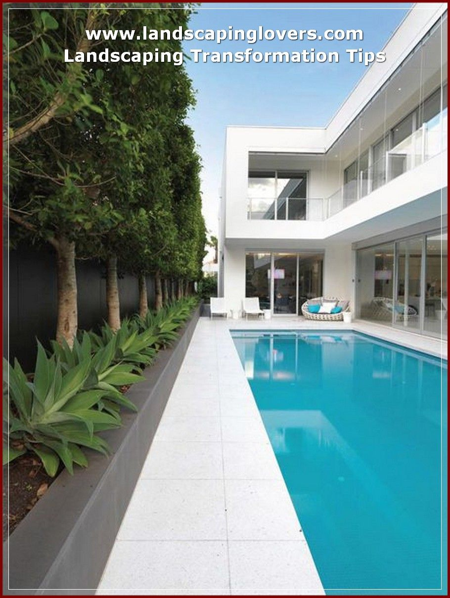 Guide To Help Landscape Your Garden Landscaping Lovers Backyard Pool Pool Houses Pool Landscape Design