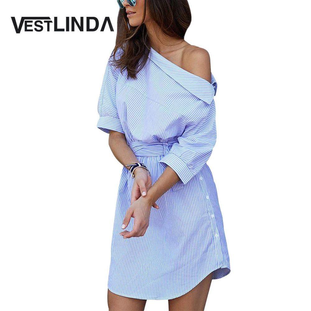 Buy vestlinda shirt dress women summer vestidos de festa one