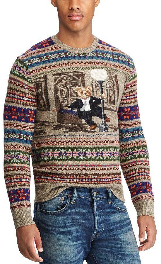27692a486fda6 Polo Ralph Lauren Bear Isle Long-Sleeve Sweater Suéter Rosa