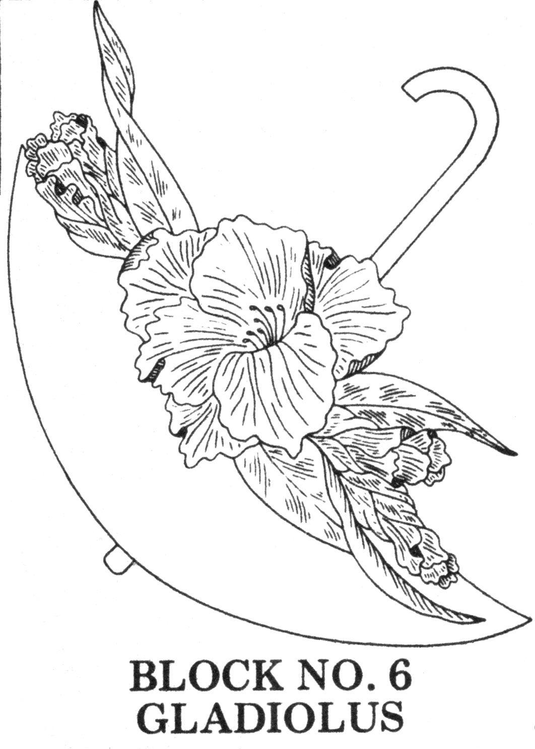 Umbrella Bouquets Applique/Embroidered Quilt Pattern