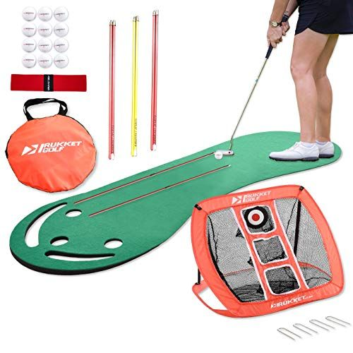 Rukket Putting Green & Golf Chipping Net Bundle | Indoor ...