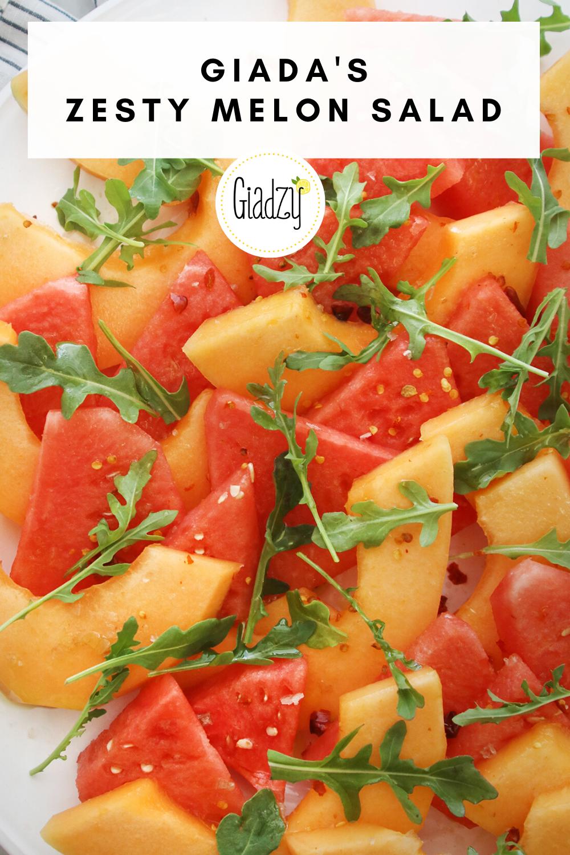 Zesty Melon Salad With Arugula Giadzy Recipe In 2020 Cantaloupe Recipes Giada Recipes Melon Salad Salad chicken rotini salad with basil buttermilk dressing. pinterest