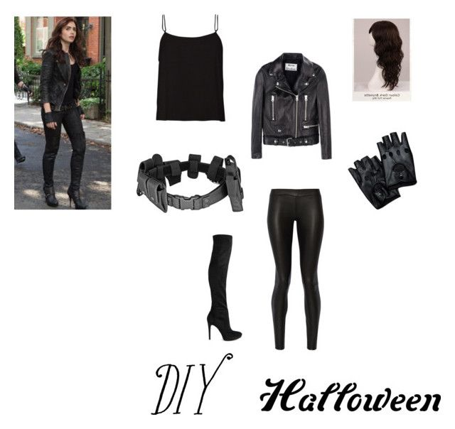 """Diy Ya Herione Costume"" by charlese-b ❤ liked on Polyvore featuring The Row, Acne Studios, Sam Edelman and WigYouUp"