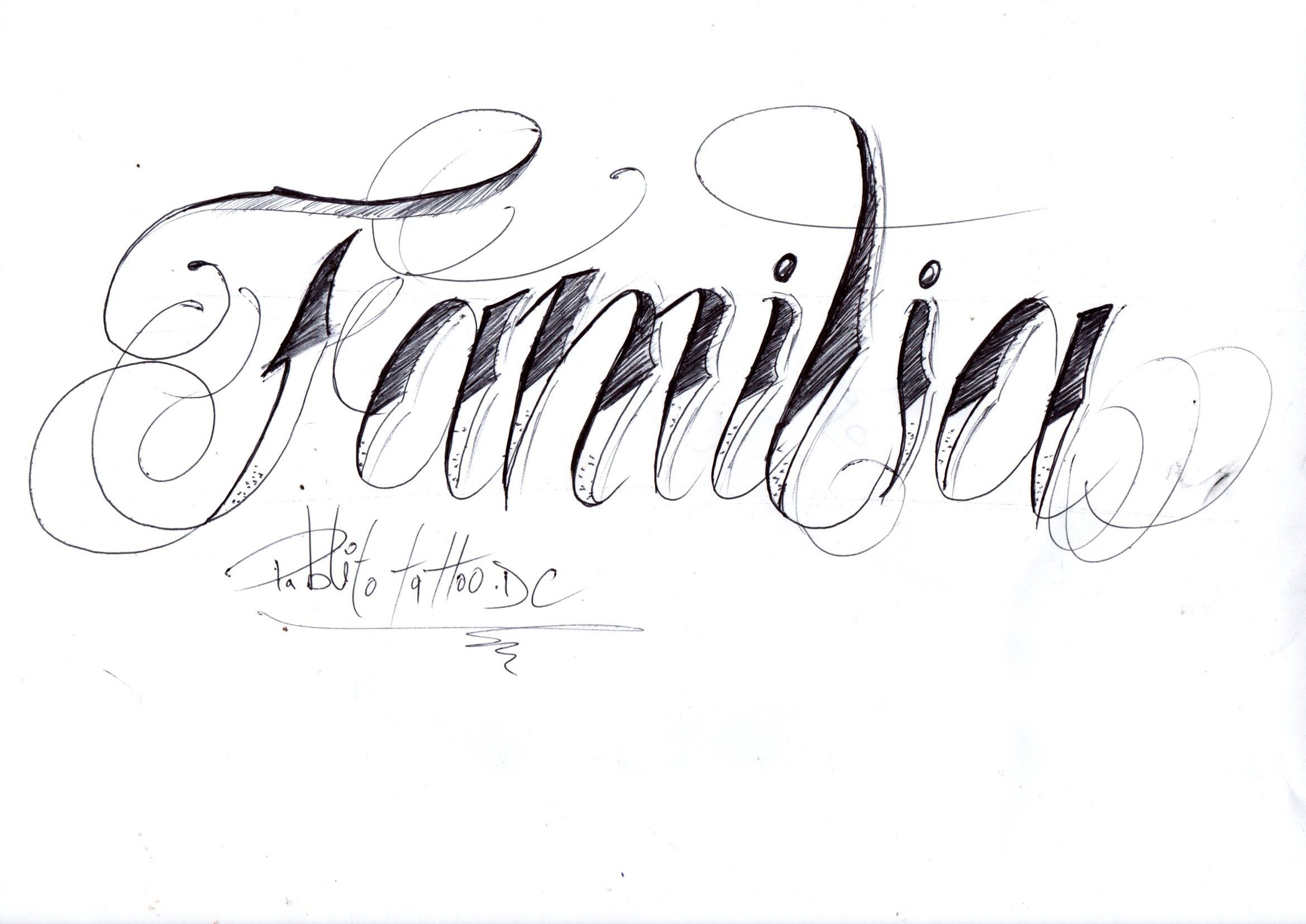 Familia En 2020 Disenos De Letras Letras Para Tatuajes Diferentes Tatuajes