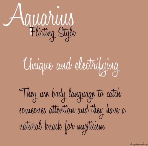 How Does An Aquarius Woman Flirt