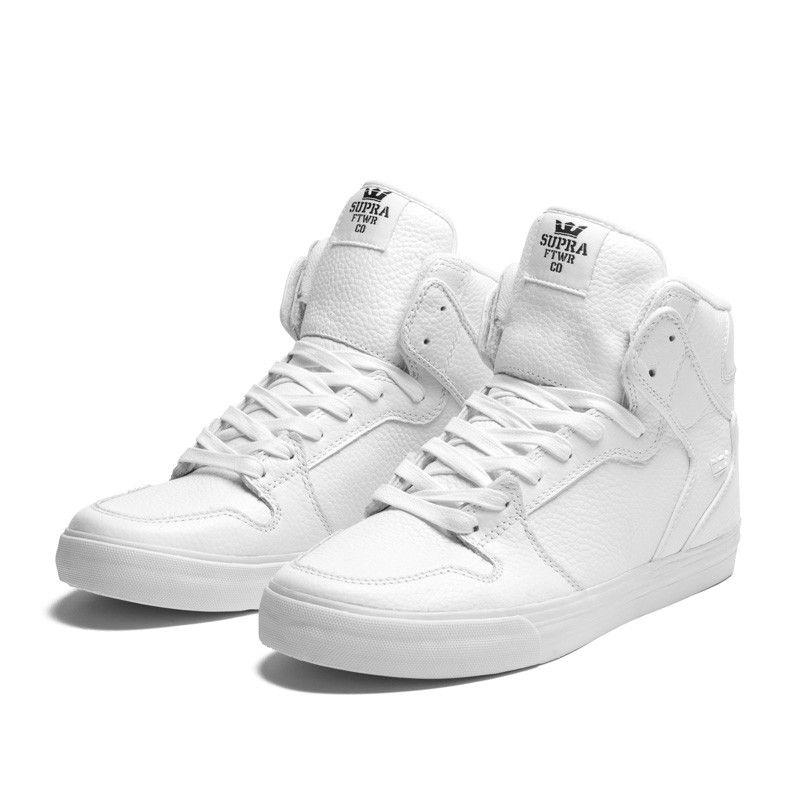 Supra white leather Vaiders