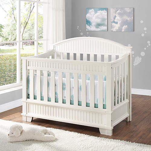 bertini saybrook convertible 4 in 1 crib in white finish bertini babies r us baby central. Black Bedroom Furniture Sets. Home Design Ideas