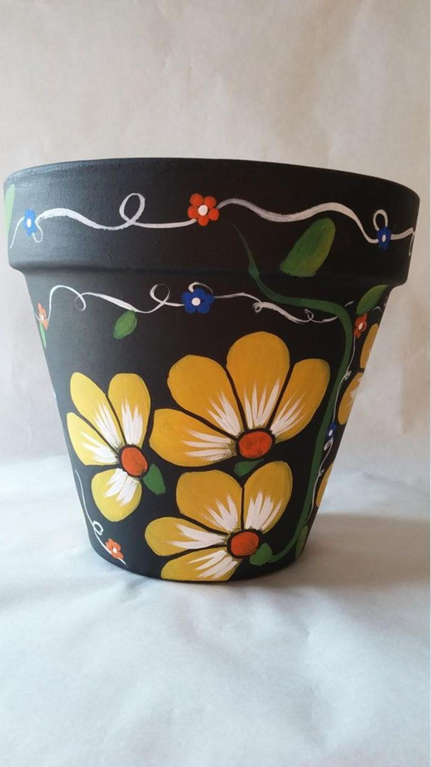 25 Simple Easy Flower Pot Painting Ideas 31 Painted