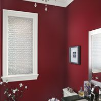 Strikingly Rich Red Bathroom Benjamin Moore Caliente Simply White Black Knight