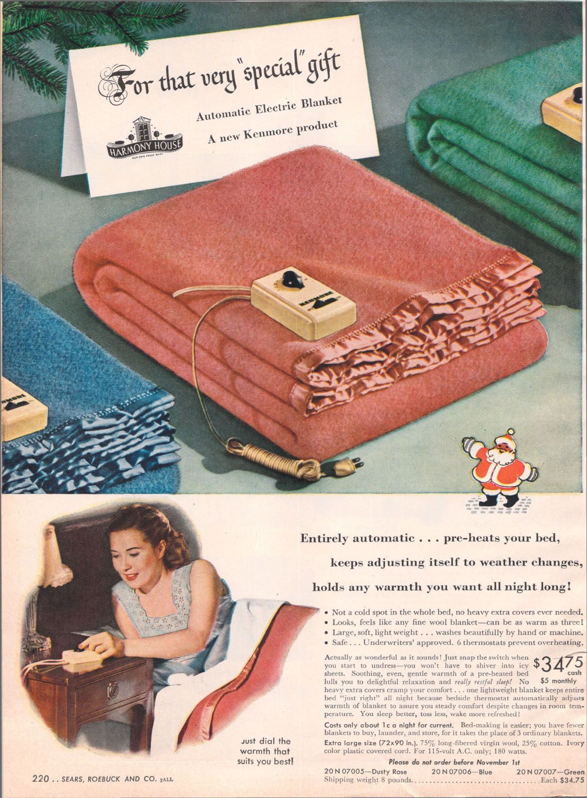 Electric Blankets 1946 Sears Christmas Catalog Eos