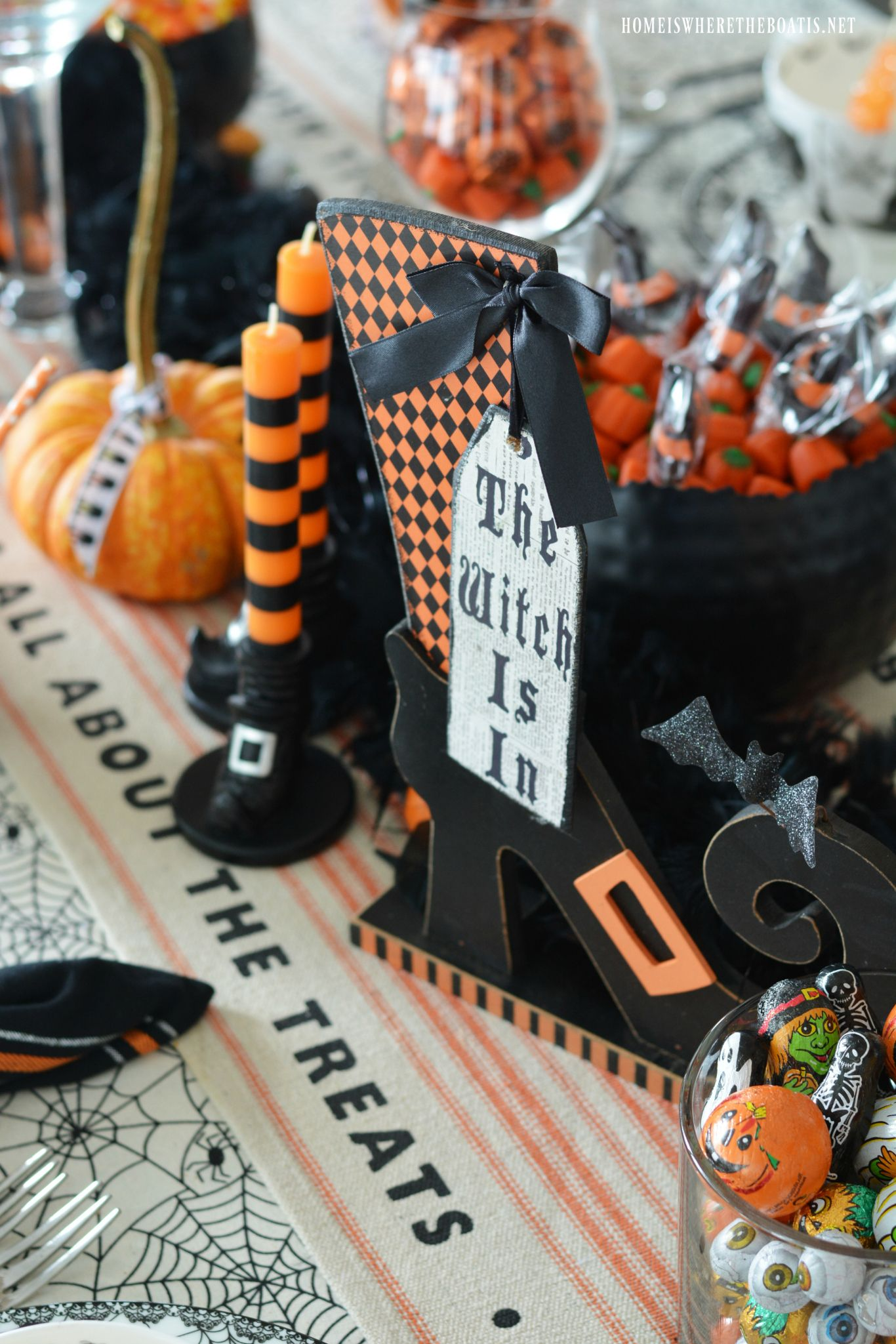 Witch Way To The Treats Halloween Tablescape