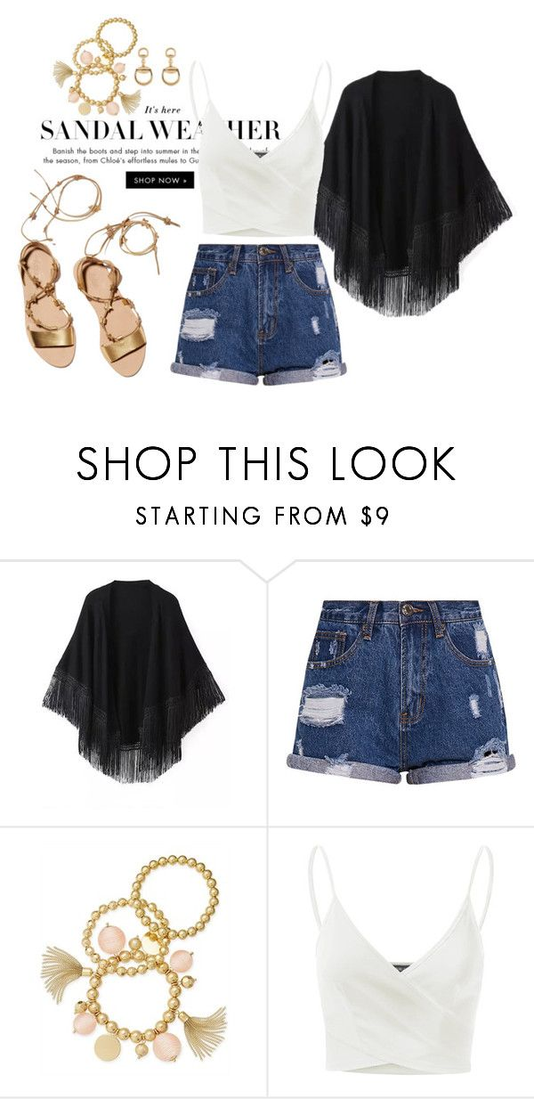 """""""idk"""" by emmaabou ❤ liked on Polyvore featuring Loeffler Randall, Relaxfeel, INC International Concepts, Doublju and Gucci"""