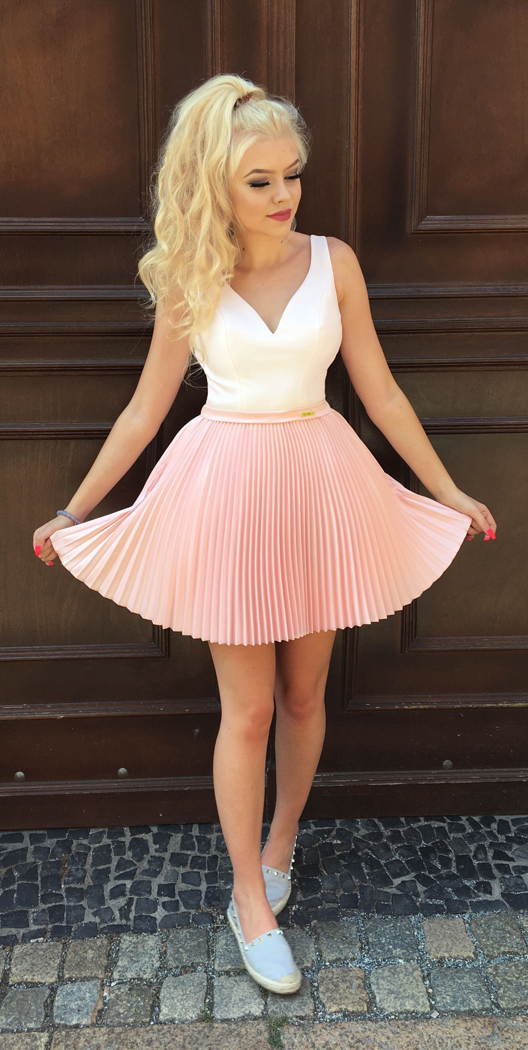 608127806c45 chic pink short homeocming dresses with pleated, 8th grade semi formal dress  for teens , a line graduation party gowns
