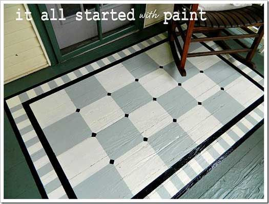 Painted Floor Designs porch paint | porch flooring, paint rug and porch