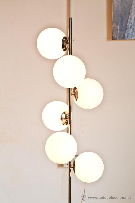 Lámpara de pie 6 globos, Francia, años 60-70, 390 €